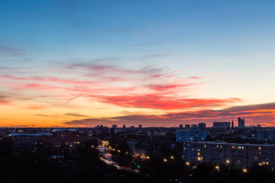 München Sonnenaufgang